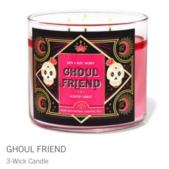 "👺🕯NWT‼️ BBW ""Ghoul Friend"" 3-wick Candle"